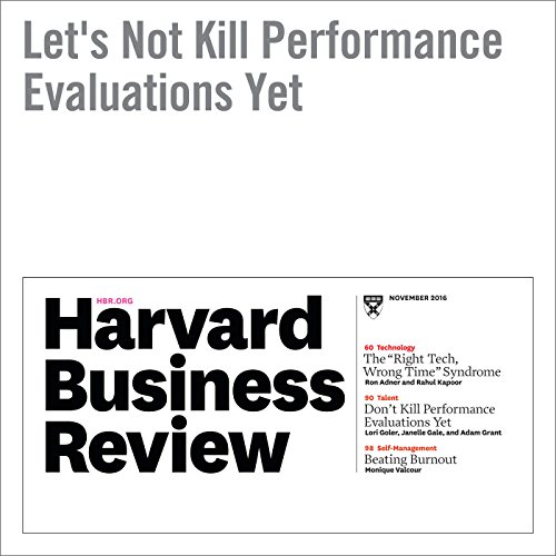Let's Not Kill Performance Evaluations Yet audiobook cover art