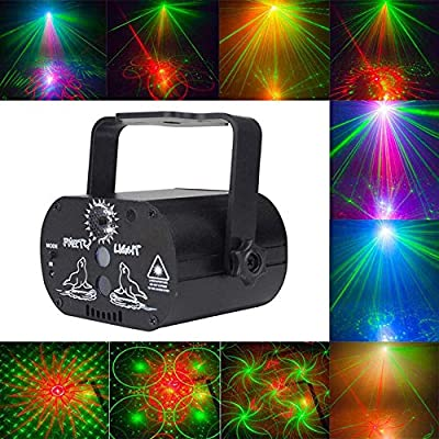 XMYL Mini Stage Lights with 60 Patterns, LED Disco Flash Light USB Rechargeable for Bar KTV Birthday Family Party Wedding