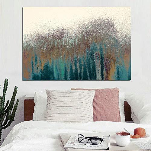 jiushice Rahmen HD Druck Moderne Abstrakte Meer Welle Sand Öl ng auf Leinwand Poster Moderne Pop Art Wandbild für Wohnzimmer Cuadros Decor 40x60cm