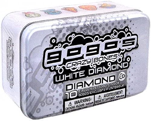 Gogos Crazy Bones Weiß Diamond Tin with 10 Exclusive Gogos assortments may vary by Magic Box International