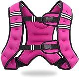 Jolitac Gewichtsweste Trainingsweste Gewichte Fitness Weste 5KG Laufweste Sport Gewichtsweste für Herren, Damen, Kinder Rosa