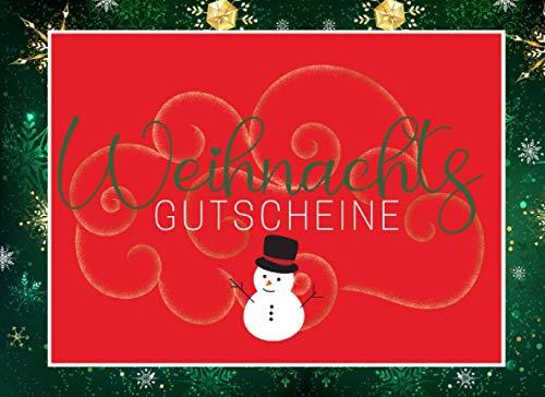 Weihnachts Gutscheine: Blanko Buch bunt zum selbst gestalten und verschenken • Weihnachtsgeschenk für Paare, Schwester, Bruder, Mama, Papa, Oma, Opa ... Gutscheine zum Ausschneiden mit Hilfslinien