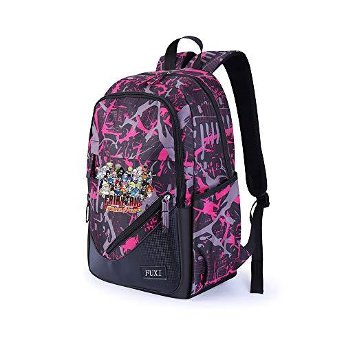 Fairy Tail Schulrucksack Explosion Unisex Laptop Rucksack Leichter wasserdichter Computer lässig Daypack Schultasche Unisex (Color : Pink03, Size : 32 X 18 X 48cm)