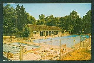 Canyon Inn Swimming Pool McCormicks Creek Park Spencer Indiana Camping Postcard