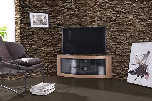 Centurion Supports Pangea, hoekkast met gebogen voorkant, voor televisies met 32-55 inch (81-140 cm) eiken