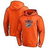 FANS LOVE Sudadera con Capucha para Hombre NBA Fan Jersey Thunder Team Jersey De Manga Larga Hecho para Uso Diario Camisetas Orange-XXL