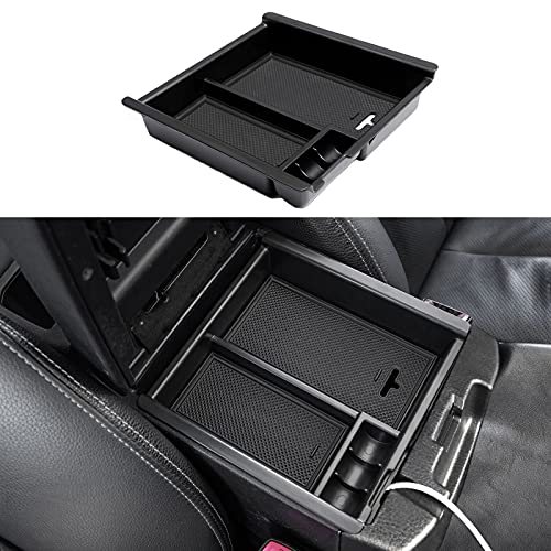 JDMCAR Compatible with Center Console Organizer Toyota Tacoma Accessories 2016-2020 2021, Tacoma Insert ABS Black Materials Tray
