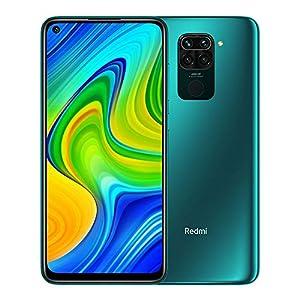 "Xiaomi Redmi Note 9 - Smartphone de 6.53"" FHD (DotDisplay, 4 GB RAM, 128 GB ROM, cámara Quad de 48 MP, Hotshot 3.5 mm, Headphone Jack, batería de 5020 mAh) Forest Green [International Version]"