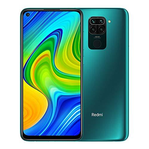 """Xiaomi Redmi Note 9 - Smartphone de 6.53"""" FHD (DotDisplay, 4 GB RAM, 128 GB ROM, cámara Quad de 48 MP, Hotshot 3.5 mm, Headphone Jack, batería de 5020 mAh) Forest Green"""