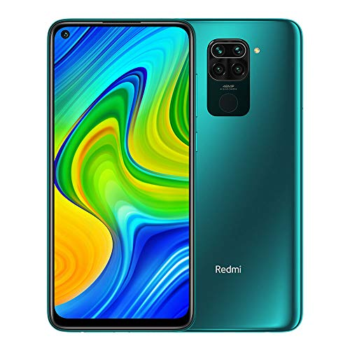 "Xiaomi Redmi Note 9 Smartphone débloquée RAM 4 Go ROM 128 Go 6.53 ""FHD + DotDisplay 48 MP Quad Caméra Hotshot 3,5 mm Headphone Jack 5020 mAh NFC Vert/Forest Green"