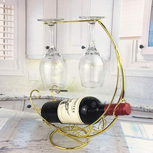 De metalen steun Ophangrek wijn wijnglas creatief decoratie scherm Ondersteuning,een afmeting,goud