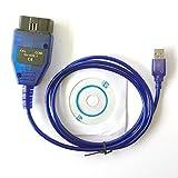 hr-tool® Interfaz de cable de diagnóstico USB KKL...