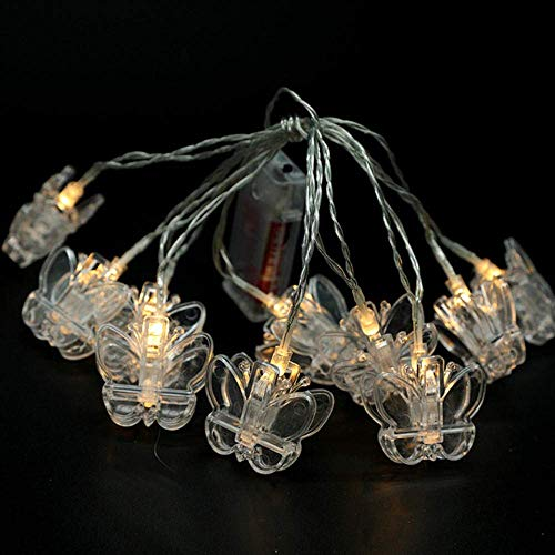 1.5M 10LED Photo Butterfly Clip Light String Battery Power Fairy Garland Decor Christmas Wedding Party Photo Decoration-Star_Multicolor Star Multicolor