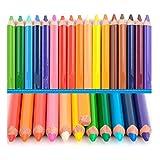 Tollmllom Lápices de Colores Lápiz de Color Lápiz Enviar Planer 24 de Color Juego de Cables for el Estudiante para Dibujar y Colorear bocetos (Color : Multi-Colored, Size : 24 Colors)