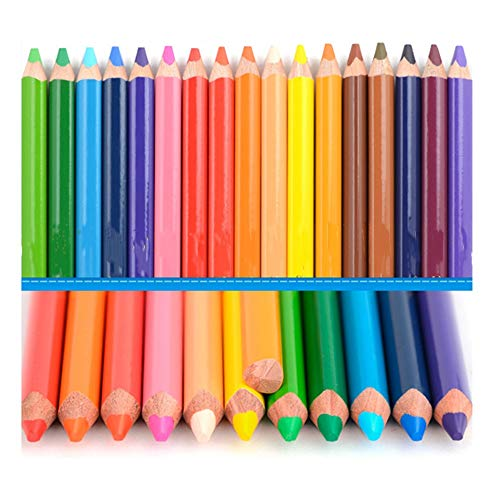Originele pastel markeerstift Kleur Potlood Send Potlood schaafmachine for Student Schilderen 24 Color Lead Set (Color : Multi-colored, Size : 24 Colors)