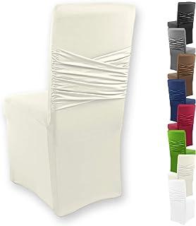Gräfenstayn® Funda para sillas elásticas Victoria - respaldos Redondos y angulares - Ajuste bi-elástico con Junta Oeko-Tex Standard 100: