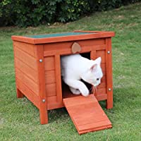 Provides safe, dry and warm hiding place for pets Flat packed & easy to set up. Winter and weatherproof. With lockable door flap. The top lifts up for easy cleaning. Can be used indoor and outdoor. Ideal for use in the garden or run Bunny Business Ra...