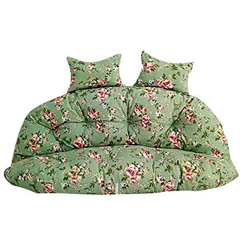 JD Bug Stoel kussen Hangende ei-hangmat zonder steun, dikke ei-vormige kussens Wasbaar draaibaar zitkussen 2 personen-138x138cm (54x54inch)
