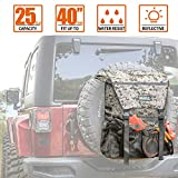 ALL-TOP Overland Series Spare Tire Trash Bag (Desert Camo) - Tool & Gear Organizer for Outdoor Off-Road Expedition - Fit up to 40'' Tire