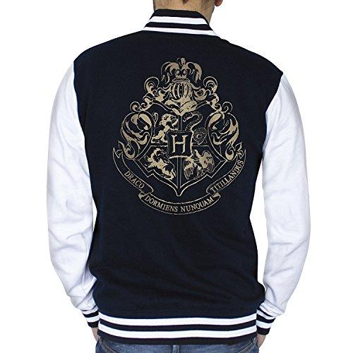 ABYstyle - HARRY POTTER - Teddy - Hogwarts - hombre - azul marino / blanco (XL)