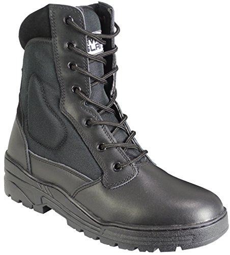 Savage Island Pro Patrol Boots Leather Army Combat Tactical Cadet Security Military, 6 UK, Black