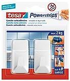 tesa 58272-00001-00 58272-00001-00-Ganchos L Clásicos Blancos Redondeado Powerstrips hasta 2 kg, Not_applicable