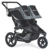 BOB Gear Revolution Flex 3.0 Duallie Double Jogging Stroller, Lunar Black | Ultra-Reflective Fabric + Smooth...
