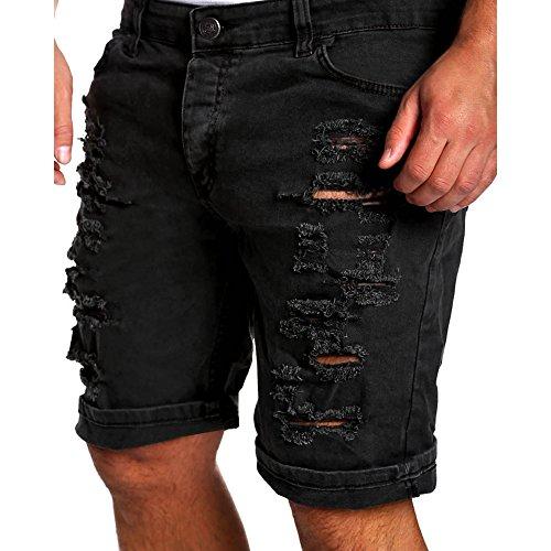 Hombre Verano Vaqueros Cortos - Fashion Straight Fit Casual Pantalones Rotos Moda Cintura Media Slim Fit Denim Shorts Pantalones