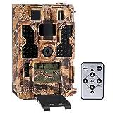 TOMSHOO 20MP 1080P Full HD visión Nocturna Gran Angular cámara de Caza 130 °, visión Nocturna 20m, Pantalla de Disparo de 0.2 Segundos y Pantalla LCD de 2.0 Pulgadas