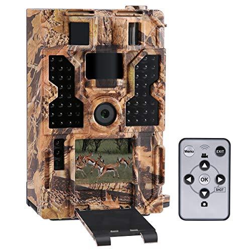 Lixada wildkamera Rückfahrkamera 20M 1080P 30fps Jagdkamera mit 32 Stück 850NM IR-LEDs Nachtsicht, 0,2 s Auslösezeit, Zeitraffer, 20 m Reichweite, 2,0