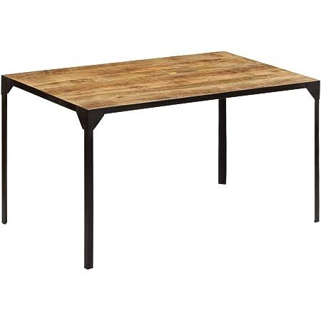 vidaXL Bois de Manguier Massif Table de Salle à Manger 140x80x76 cm Cuisine