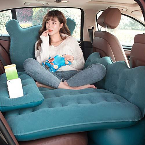 Dioche Colchón inflable para coche, cama hinchable para asiento trasero con bomba, colchón de viaje, para descansar, dormir, viajes de camping