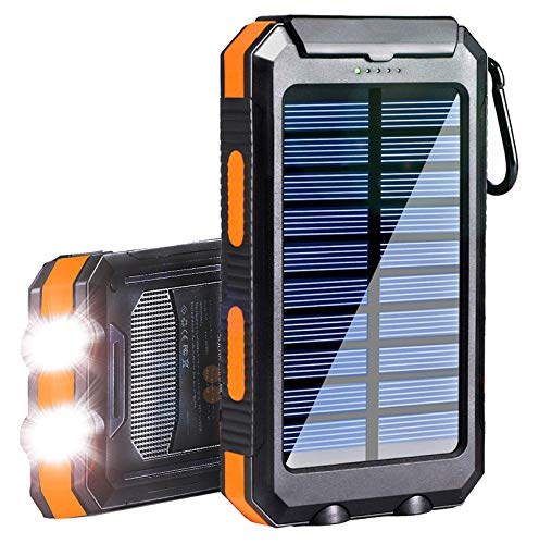 Solar Charger, Msnteta 20000mAh Portable Waterproof Power Bank,Outdoor Camping External Backup...
