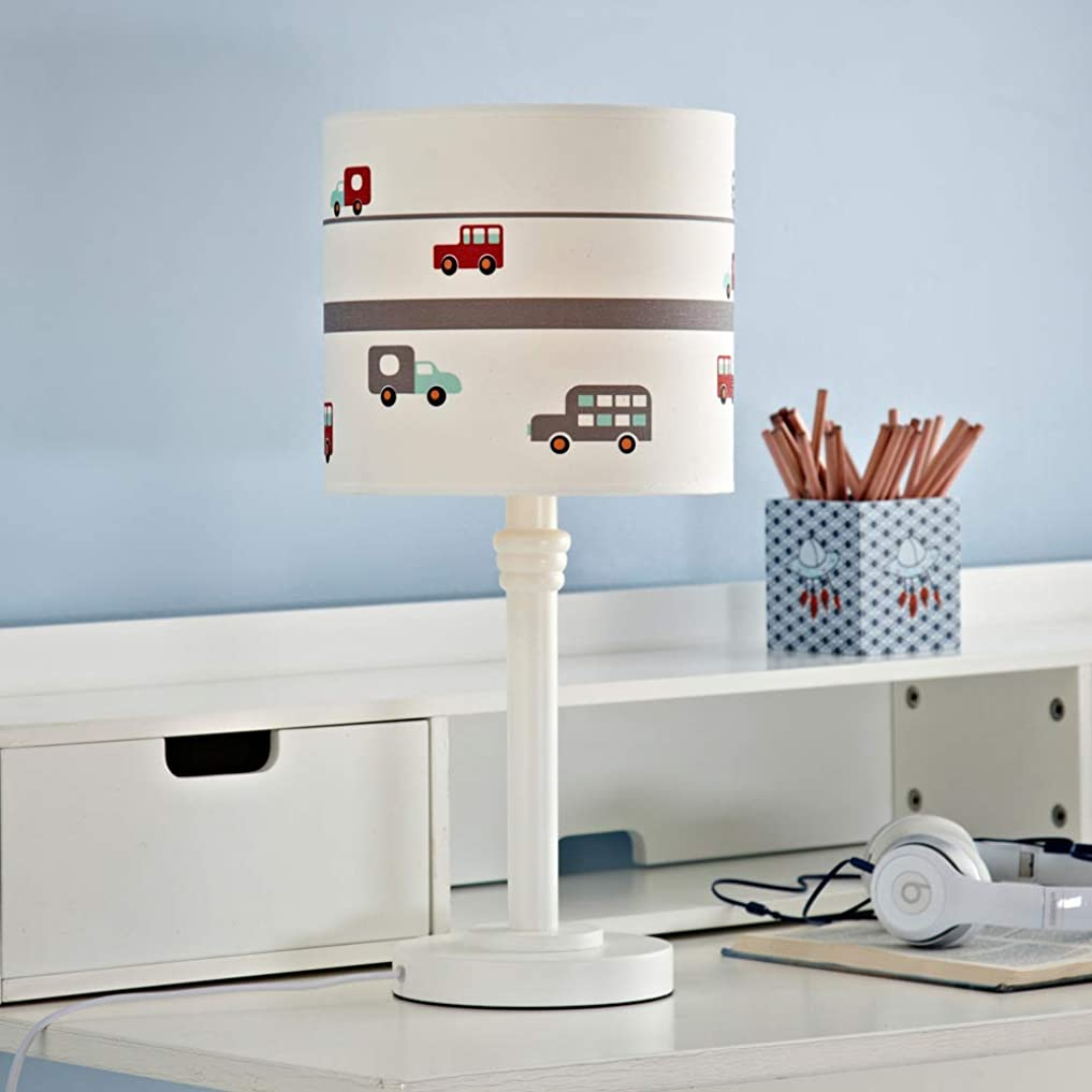 哀生命体物理的なWMZGDHL 白い木の生地はE27テーブルランプの寝室のベッドサイドランプを導きました