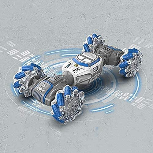 Wghz Coche RC 2.4GHz Tracción en Las Cuatro Ruedas Smart Follow Gesture Inducción Twist Car Toy Vehículo Todoterreno Seguimiento Monster Truck Coche de Alta Velocidad para niños y Adultos Niños N