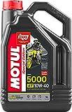 MOTUL - 104056/74 : Olio lubrificante motor moto 4T 5000 10W40 4T 4L garrafa 4 litros