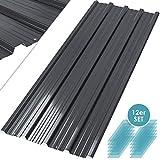 Kesser - 12 x Profilblech Trapezblech 129cm x 45cm = 7 m² -Dachblech für Gerätehaus, Dachplatten Verzinkter Stahl 0,25mm, Anthrazit