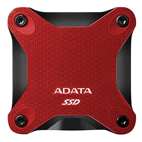 ADATA SD600Q - SSD Esterno da 480 GB, con flash NAND 3D da 2,5 , USB 3.2 Gen.1, colore: Rosso