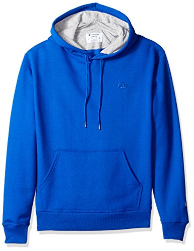 Champion Men's Powerblend Pullover Hoodie, Surf the Web, Large