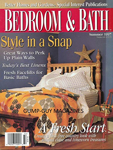 Better Homes and Gardens BEDROOM & BATH Magazine Summer 1997 TODAY'S BEST LINENS Fresh Facelifts For Basic Baths TREE-HOUSE RETREAT Curtain Call MASTER SUITES: COMPLETE WITH CHARACTER Roll With It