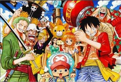 Rompecabezas 300/500/1000 Piezas Anime De Dibujos Animados One Piece Poster Puzzle Kit De Rompecabezas para Adultos Juguete De Madera Decoración Moderna para El Hogar Descomp(Size:1000pc)