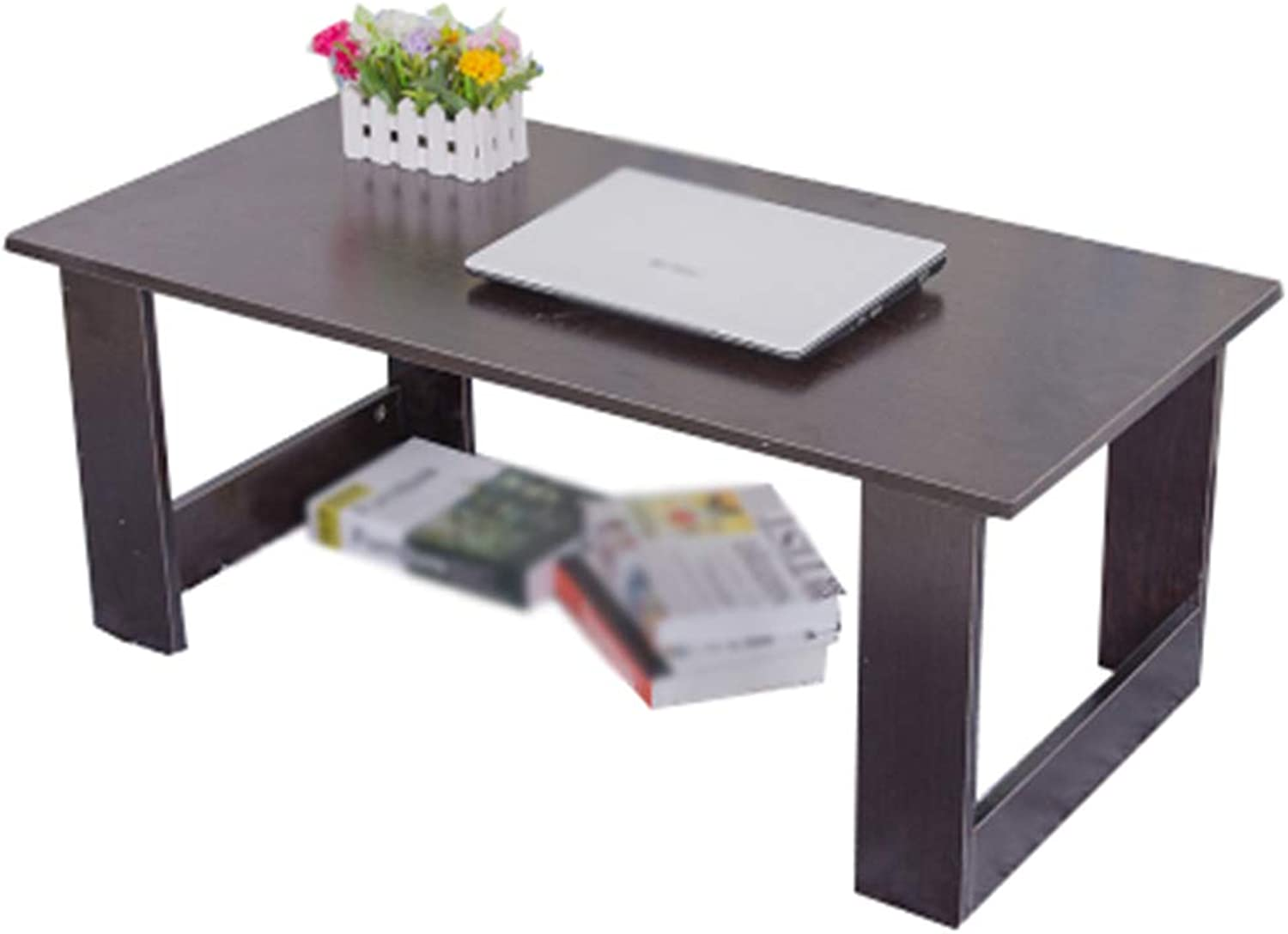 C-J-Xin Simple Tea Table, Living Room Bedroom Wooden Table Low Table Laptop Table Balcony Office Study Coffee Table Multifunction Household table (color   A, Size   80  40  31cm)