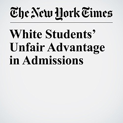 White Students' Unfair Advantage in Admissions copertina