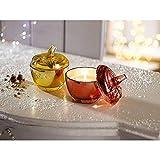 Vela aromática en tarro de cristal en juego de 2 unidades de 2 típicas aromas de invierno de vainilla y manzana asada de 10 cm de altura. Duración de la combustión: aprox. 20 horas.