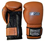 Ring to Cage Deluxe MiM-Foam Sparring Gloves - Safety Strap for Muay Thai, MMA, Kickboxing, Boxing-16oz