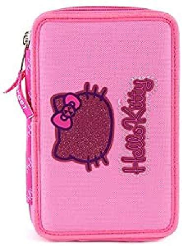 Hello Kitty Mallette Trousse Double 21 cm (Rose)