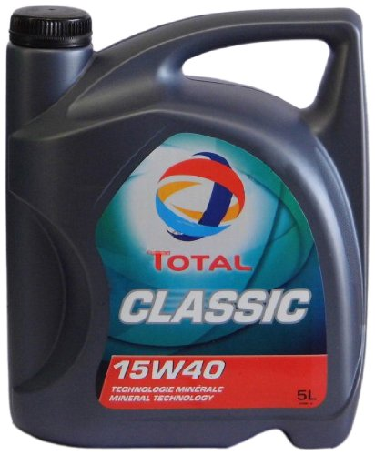 Total t156359 Classica 15W-40 Oli motore per automobili, 5 Litri