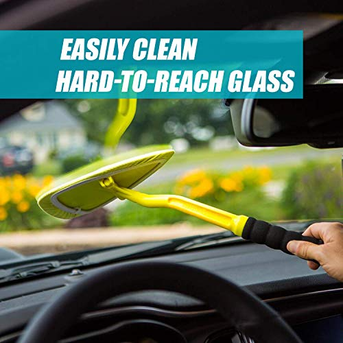 Invisible Glass 95161 Reach and Clean Tool (1-Piece) - Window Wand Glass Cleaning Tool for Windshields, Invisible Glass Cleaner for Auto Glass, Clean and Reach Tool for Hard-to-Reach Places