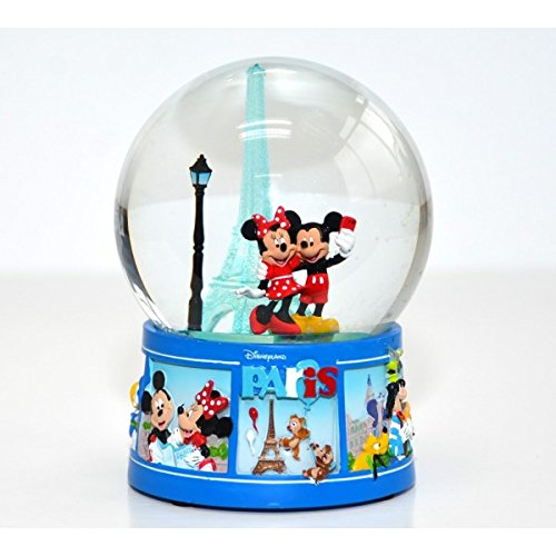 Mickey and Minnie Mouse Eiffel Tower - Bola de Nieve con luz