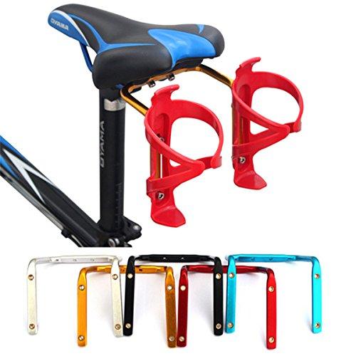 Queenbox® Mountainbike Fahrrad-Flaschenhalter, Wasserflaschenhalter,Trinkflaschenhalter, Bike Aluminium Wasserflasche Käfig Holder,Racks,Regal - Schwarz